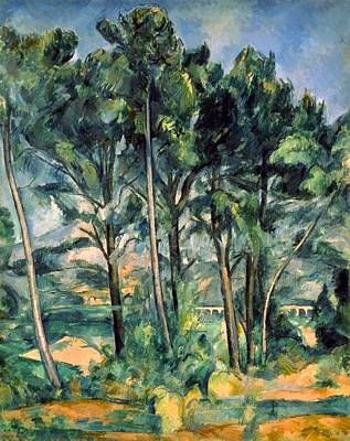 The Hermitage Painting - Viaduct by Paul Cezanne