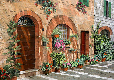 Montalcino Painting - Viaggio In Toscana by Guido Borelli
