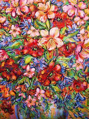 Designers Choice Painting - Vibrant Blooms by Natalie Holland