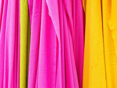 Clothes Clothing Photograph - Vibrant Cloths  by Tom Gowanlock