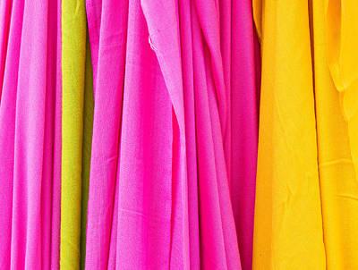 Vibrant Cloths  Art Print