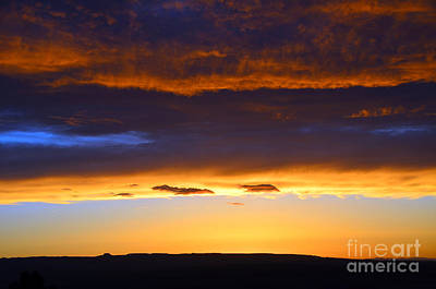 Photograph - Vibrant Colorful Sunset by Debra Thompson