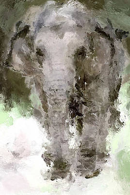 House Pet Digital Art - Vibrant Elephant by Yury Malkov