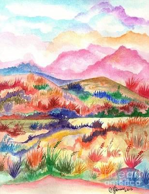 Painting - Vibrant Fields II by Chris Bajon Jones