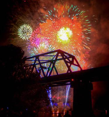 Photograph - Vibrant Fireworks by Jonny D
