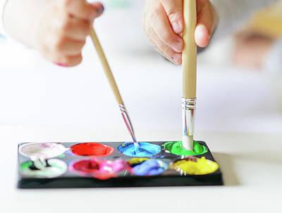Vibrant Gouache Color Set In Double Use Art Print by Tatiana Kolesnikova