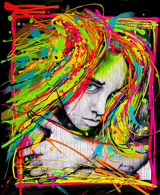 Peter Max Painting - Vibrant Hair by Frank Papandrea