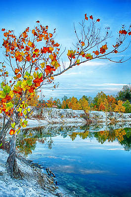 Saint Charles Digital Art - Vibrant Klondike Autumn by Bill Tiepelman