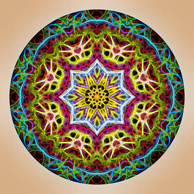 Photograph - Vibrant Mandala by Beth Sawickie