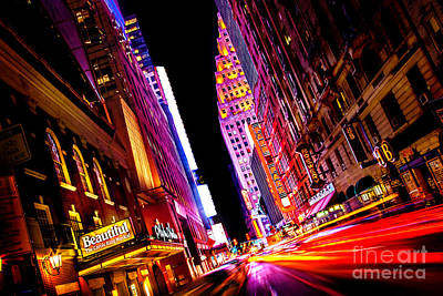 Flash Photograph - Vibrant New York City by Az Jackson
