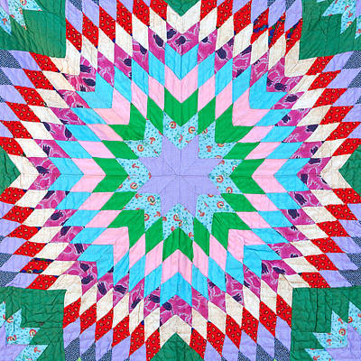 Quilt Art Photograph - Vibrant Quilt by Art Block Collections