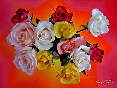 Photograph - Vibrant Roses by George Tuffy
