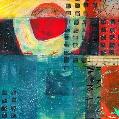 British Abstract Art Painting - Vibrant by Shuya Cheng