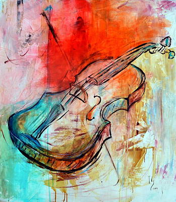 Spiritual.realistic Painting - Vibrato by Ivan Guaderrama