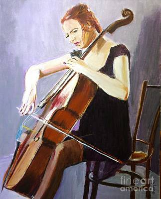 Music Painting - Vibrato by Judy Kay