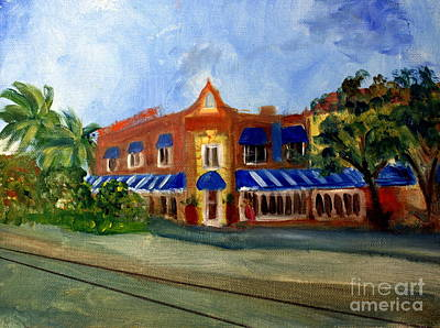 Impressionist Landscapes - Vic and Angelos in Downtown Delray Beach by Donna Walsh
