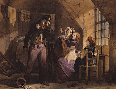 Interior Scene Drawing - Vice And Virtue   Misery by Jules David