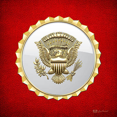 Digital Art - Vice Presidential Service Badge by Serge Averbukh