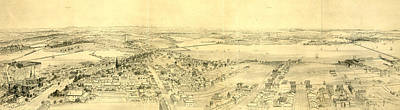 Bunker Hill Drawing - Vicinity Of Boston, From Bunker Hill Monument by Litz Collection