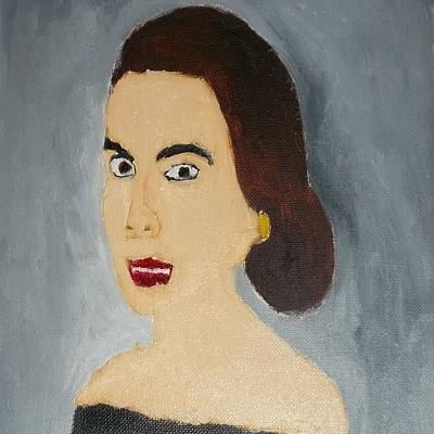 Etc Painting -  1960's Woman by William Sahir House