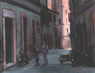 Vicolo Del Troubador Print by David Zimmerman