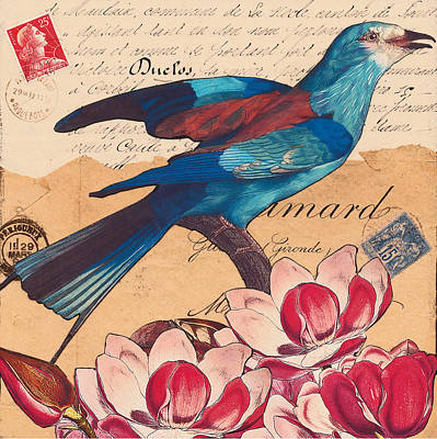 Bluebird Mixed Media - Victoire by Creartful Dodger