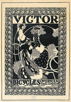 Bradley Painting - Victor Bicycles by William Henry Bradley