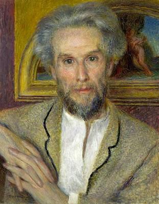 Cambridge Painting - Victor Choquet by Pierre-Auguste Renoir