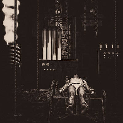 Reanimation Digital Art - Victor Frankenstein's Lab by Bob Orsillo