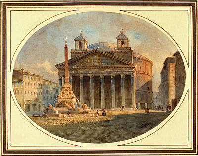 Victor Drawing - Victor Jean Nicolle, French 1754-1826, The Pantheon by Litz Collection