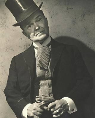 Cravat Photograph - Victor Moore As Mr. Throttlebottom by Edward Steichen
