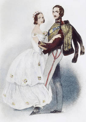Victoria Painting - Victoria & Albert Waltzing by Granger