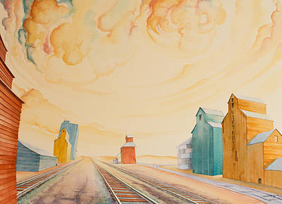 Grain Elevator Painting - Victoria And Her Sisters by Scott Kirby