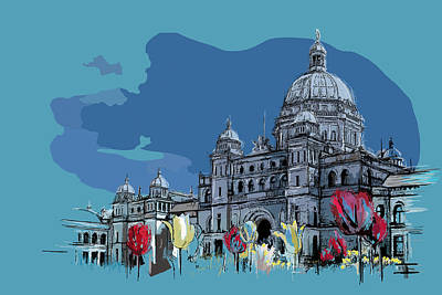 Vancouver Sketch Painting - Victoria Art 007 by Catf