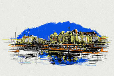 Vancouver Sketch Painting - Victoria Art 011 by Catf