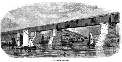 Victoria Bridge - Quebec - 1878 Art Print