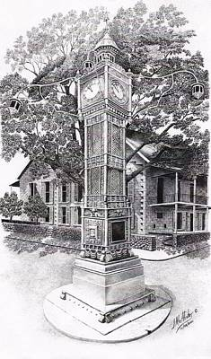 Victoria Clock Tower Art Print by Jimmy McAlister