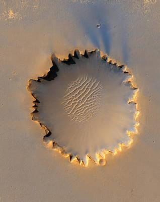 Victoria Crater Mars Art Print