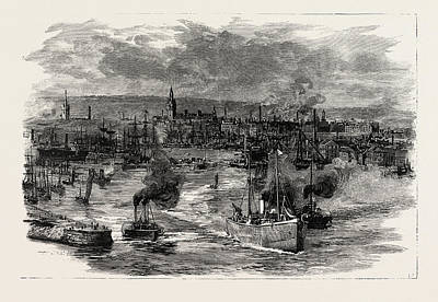 Dock Drawing - Victoria Docks, The Port Of Aberdeen by English School