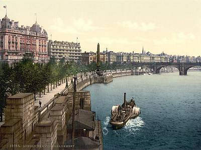 Victoria Embankment Photograph - Victoria Embankment, London, 1890s by Science Photo Library