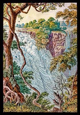 Victoria Falls And Island Art Print by Gustoimages/science Photo Libbrary