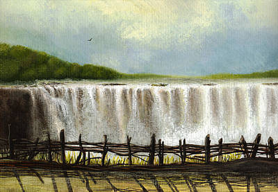 Painting - Victoria Falls by Deborah Runham