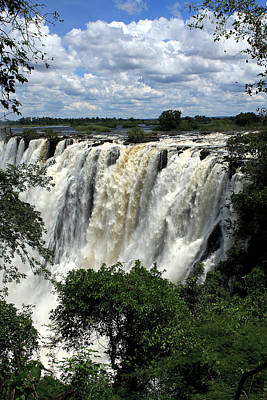 Victoria Falls On The Zambezi River Art Print