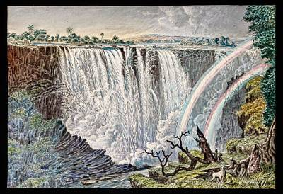 Double Rainbow Photograph - Victoria Falls Rainbows by Gustoimages/science Photo Libbrary