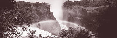 White And Black Waterfalls Photograph - Victoria Falls Zimbabwe Africa by Panoramic Images