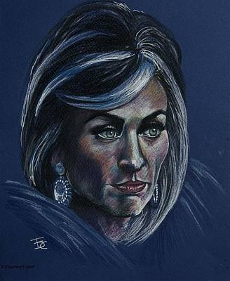 Color Pencil Drawing - Victoria by Francoise Dugourd-Caput