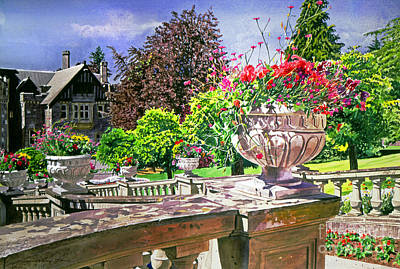 Canada Landscape Painting - Victoria - Hatley Castle by David Lloyd Glover
