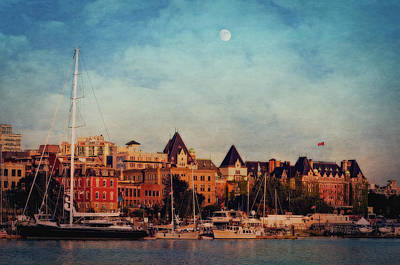 Victoria Historic Buildings  Art Print by Maria Angelica Maira