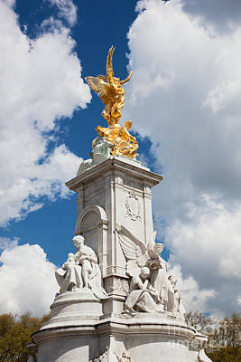 Ancient Photograph - Victoria Memorial Next To Buckingham Palace London Uk by Michal Bednarek