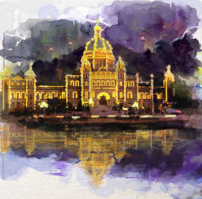 Empress Painting - Victoria Scenery 6b by Mahnoor Shah